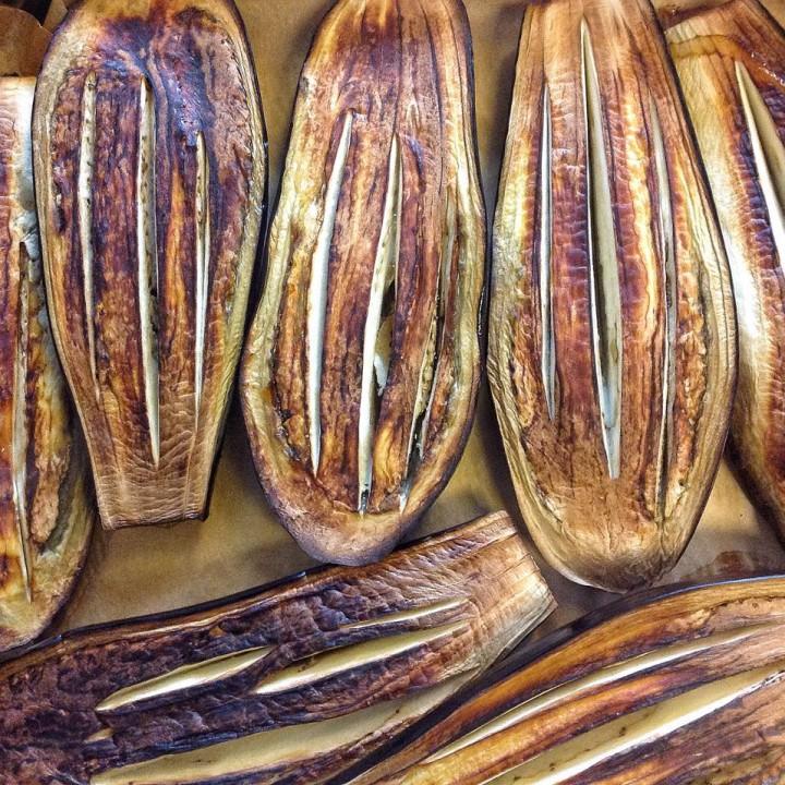 pieczone bakłażany